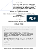 Brian Hugen v. New England Retail Express, Incorporated David Jones, 99 F.3d 1130, 4th Cir. (1996)