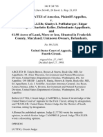 United States v. Gloria J. Keller Gladys I. Poffinberger Edgar Poffinberger Charlotte Keller, and 41.98 Acres of Land, More or Less, Situated in Frederick County, Maryland Unknown Owners, 142 F.3d 718, 4th Cir. (1998)