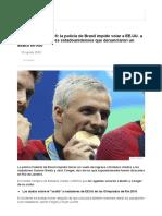 Olimpiadas Río 2016_ La Policía de Brasil Impide Volar a atletas de EEUU