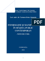 C. Atanasiu - Informatie Si Manipulare