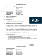 Informe Psicológico (General)