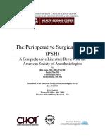 Perioperative Surgical Home