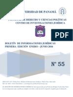 Boletín de Informaciones Jurídicas - Fac de Derecho - Univ de Panamá - Ene-jun2016