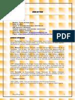 CV Tere Arteaga 2014