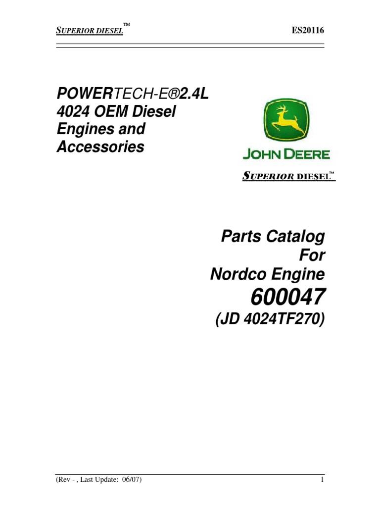 manual de partes motor john deere 4024t rh scribd com John Deere 4024TF270 Water Pump john deere 4024tf270 engine manual