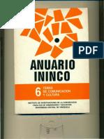 ANUARIO ININCO TEMAS DE COMUNICACIÓN Y CULTURA. VOL6. 1994. Texto completo para colección. Versión digital.