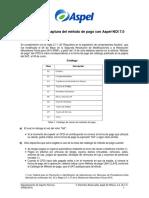 Metodo Pago Aspel NOI 7.0