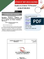 Directiva Nº 007 2013 Cg Oea