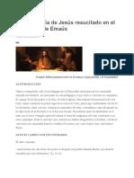 La Pedagogía de Jesús Resucitado y Emaús
