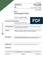 FD P 18-326 _ Zones de Gel en FranceNovembre 2004