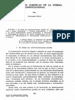 Peculiaridades Jurídicas de La Norma Constitucional[1]