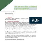 Rapport Canaux de Prop