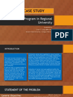 COMMUNITY CASE STUDY Local Health Program of Regional University
