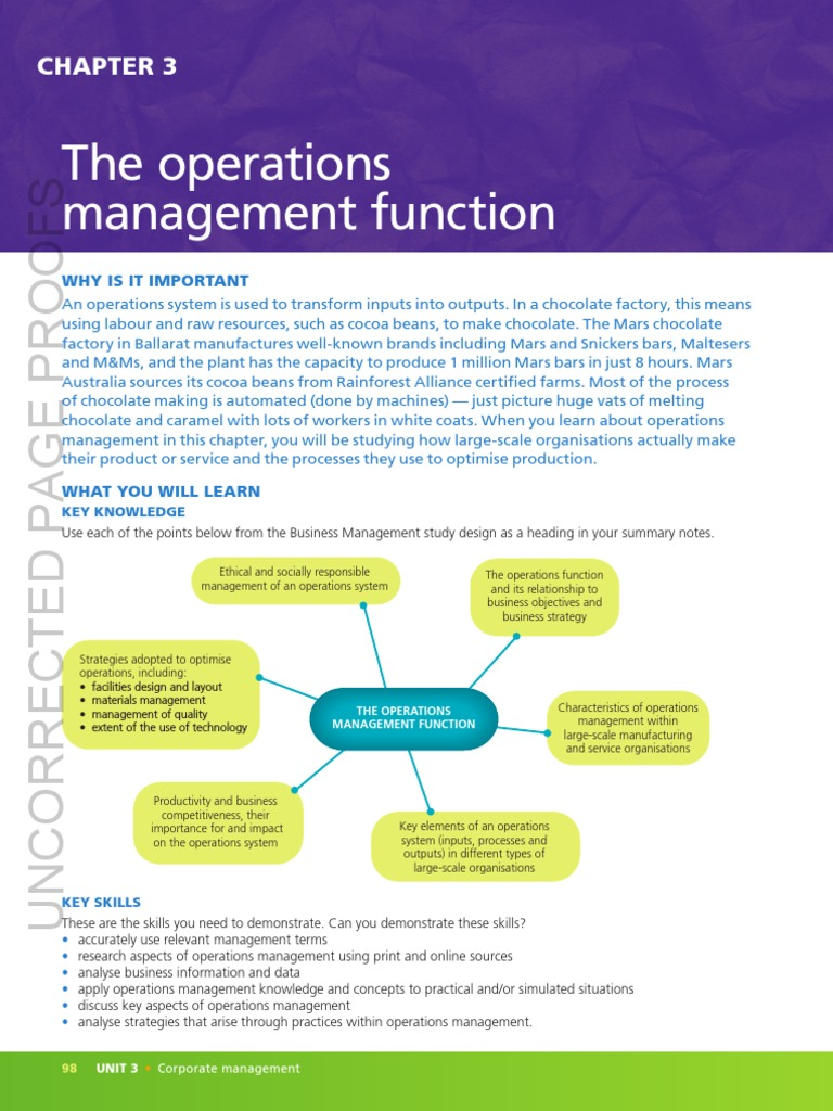 The Operations Management Function Web Operations Management