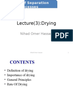 Lecture 8 - Drying