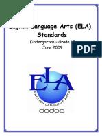 June 8 09 DoDEA K 12 ELA Standards Update 2015