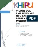 Ensayo - Vision Del Emprendimiento en El Peru y El Mundo