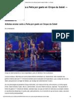 Artistas envían carta a Peña por gasto en Cirque du Soleil — La Jornada