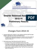 Smarter Balanced 2015 16 Preliminary Results