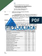 Informe Nº 001-2016 - Requerimiento de Utiles Escritorio Herramientas