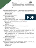Evaluación 11° Sociales
