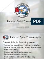 Railroad Quiet Zone Analysis