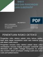 Risiko Deteksi Dan Rancangan Pengujian Substantif
