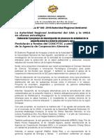 NOTA DE PRENSA N° 040 ARMA Y UNSA ELABORARÁN 5 PROYECTOS DE INVESTIGACIÓN DE PROCESOS DE PEQUEÑA MINERÍA Y MINERÍA ARTESANAL Y AGUA