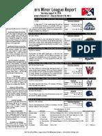 8.18.16 Minor League Report