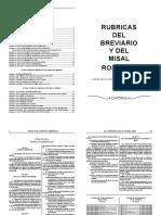 Rubricas Del Misal y Del Breviario Romano
