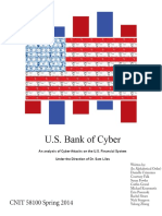 U.S. Bank of Cyber an Analysis of Cyber