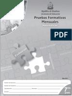 Pruebas Formativas Mensuales 7° MA (edición 2011)