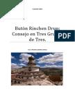 Butön Rinchen Drup Consejo en Tres Grupos de Tres.