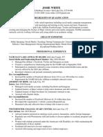 josie white resume