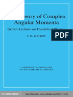 ( ) the Theory of Complex Angular Momenta_Gribov Lectures on Theoretical Physics [CUP]