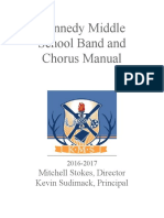 kennedy middle school band and chorus manual