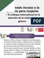 El Enfoque Intercultural en La Atencion de La Violencia de Genero