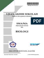Ujian Akhir Sekolah 2015, Paket 3 Final