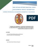 Plan de Tesis para Diseño de Gobierno y Gestión de Seguridad de la Información