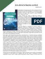 Estres y La Funcion Cerebral