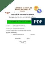 Informe de La Visista a PTAR san Jeronimo