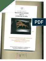 ANUARIO ININCO / Investigaciones de la Comunicación. VOL10. 1999. Texto completo para coleccionar. Versión Digital.
