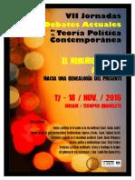 Afiche y Convocatoria VII JORNADAS DATPC