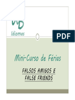 False Friends e Falsos Amigos