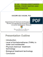 Presentation Slide- A Riview on THMs Removal in Water and Wastewater- Edited