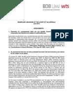 80. Summary of Significant CTA Decisions - June 2014