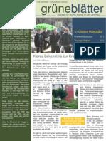 grüneBlaetter Nr. 1 Januar 2010