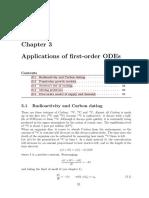 Application of 1st Order ODE