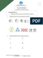Guia Matemática Fracciones 5to