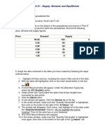 Supply, Demand, And Equilibrium Excel Lab1